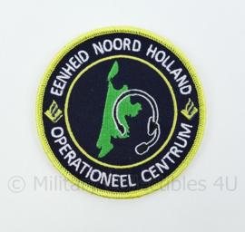 Nederlandse Politie Eenheid Noord Holland Operationeel Centrum embleem - met klittenband - diameter 9 cm