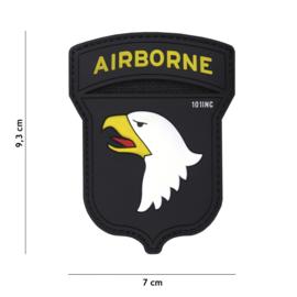 Embleem PVC 3D PVC met klittenband - 101st Airborne Division full colour - 9,3 x 7 cm.
