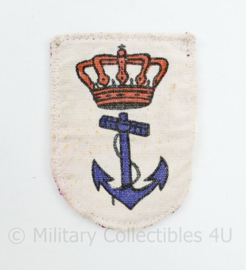 Koninklijke Marine embleem - vintage model - 8 x 6 cm - origineel