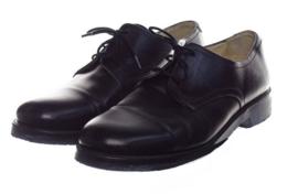 KL Nederlandse leger DT schoenen - licht gebruikt - zwart leer - maat 280B = 44 breed - origineel