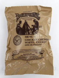 US Army MRE los rantsoen - Meal Ready to Eat  - Menu 5 Chicken chunks, White, cooked - in houdbaar tot 10-2020