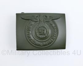 Waffen ss koppelslot ss feldgrau  - met stempels - topkwaliteit
