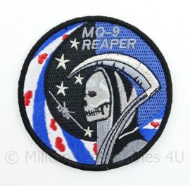 KLu Koninklijke Luchtmacht embleem MQ-9 Reaper - met klittenband  - 9 cm. diameter