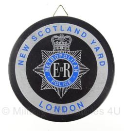 Metropolitan Police Politie wandbord - New Scotland Yard London - origineel