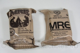 US Army MRE los rantsoen - Meal Ready to Eat - keuze uit  menu 13 tm. 24 ! - houdbaar tot 2-2023