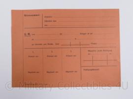 Wo2 Duits document Aktennummer - ongebruikt - 21 x 14,5 cm - origineel