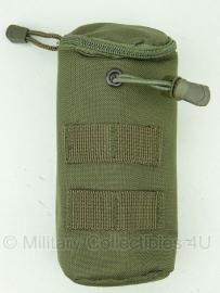 Koppeltas airsoft BB fles - Molle draagsysteem - 20 x 7 x 7 cm -GROEN