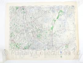 Wo2 Britse War Office Stafkaart van Oldenzaal uit 1945 - Schaal 1:50000 -  60 x 75 cm - origineel