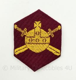 Ministerie van Oorlog embleem gevouwen - 7 x 5,5 cm - origineel