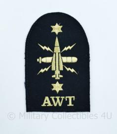 Royal Navy  embleem  Above Water Tactical AWT - Rank of Leading Rate - 14 x 9 cm -  origineel