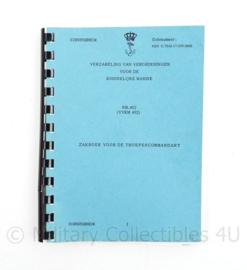 Koninklijke Marine Zakboek voor de Troepencommandant VVKM402- 17,5 x 13 x 1 cm - origineel