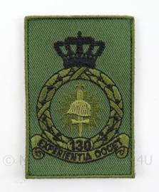 KLu Luchtmacht arm embleem 130e Squadron - met klittenband - afmeting 5 x 8 cm - origineel