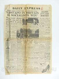Daily Express krant - 5 June 5, 1945 - origineel