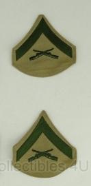 USMC Marine Corps rangen set  - Lance Corporal - origineel