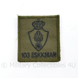 Koninklijke Marechaussee borst embleem 103 ESKKMAR met klittenband - origineel