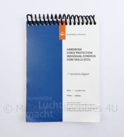 KLU Luchtmacht handboek Force Protection Individual Common Core Skills ICCS - 16 x 10,5 x 1 cm - origineel