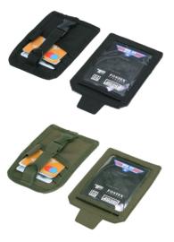 TF-2215 Visitekaart / ID / Kaarthouder Velcro - Zwart of Groen