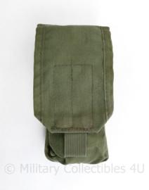 Defensie en Korps Mariniers GROENE Profile Equipment MOLLE M4 C7 magazijntas - gebruikt - 20 x 8,5 x 5 cm - origineel