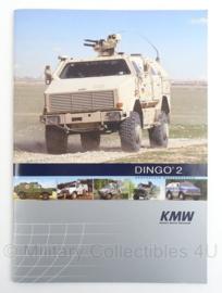 Duitse of Nederlandse Landmacht folder van de Dingo van KWM - zeldzaam - afmeting 30 x 21 cm - origineel