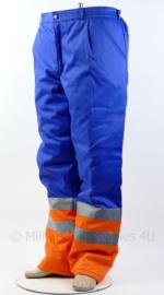 Nieuwe werkbroek blauw/oranje met reflectie - merk HAVEP - maat 56 - nieuw met kaartje!