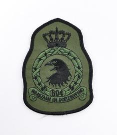KLU Luchtmacht embleem 604 Squadron Waakzaam en doeltreffend - met klittenband - 11,5 x 8 cm - origineel