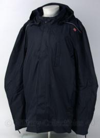 Bilaminaat regenjas donkerblauw met capuchon - nieuw in verpakking - maat 50 - origineel