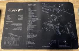 Colt M1944 wapen schoonmaakmat - 43 x 28 cm.