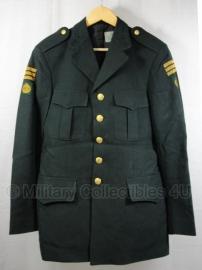Deens uitgaans uniform - met gele rangen en patch