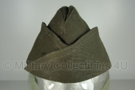 US 1942 officer garrison cap zonder piping - size 6 5/8= 53  - origineel WO2