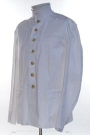 Korps Mariniers witte tropen uniform jas met opstaande kraag en broek Toetoep - zeldzaam - maat 60 = 3XL  - origineel