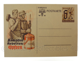 WO2 Duitse ansichtkaart postkarte WHW Winterhilfswerk Kampfen Arbeiten Opfern - origineel