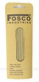 Schoenveters 160cm - Khaki - nieuw gemaakt