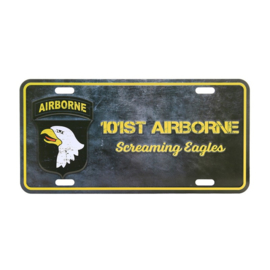 Nummerplaat 101st Airborne Screaming Eagles