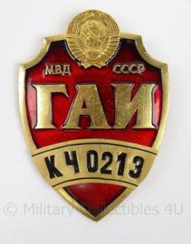Russische Politie brevet groot - afmeting 7 x 10 cm - origineel
