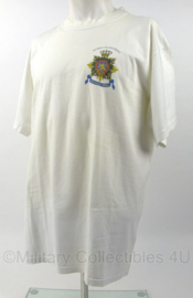 KM Marine Korps Mariniers wit shirt met logo op de borst - Curacao Aruba Suriname reunie 2002 - maat XL - origineel