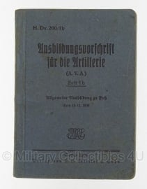 H.Dv. 200/1b Ausbildungsvorschrift für die Artillerie 1936 - origineel
