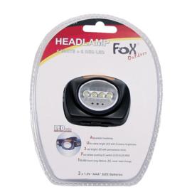 Fox Outdoor hoofdlamp - zwart - met verstelbare hoofdband - nieuw gemaakt