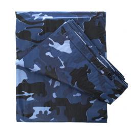 Afdekzeil Sky BLUE urban camo - GROOT 6 x 3,5 meter