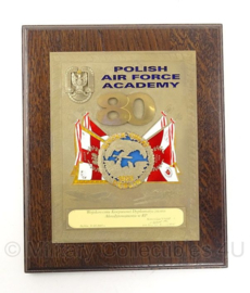 Polish Air Force Academy wandbord - 27 x 22 cm - origineel