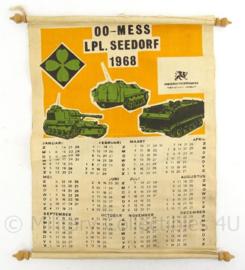 KL Landmacht kalender Onderofficiers mess LPL Seedorf - 1968 - 39 x 34 cm - origineel