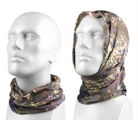 Multifunctioneel hoofddeksel - muts, balaclava, sjaal, hoofdband etc. - Flecktarn camo