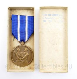 Belgische Commemoration Deportation Deportatie Herdenking 1942 1945 medaille in doosje - 9 x 4 cm - origineel
