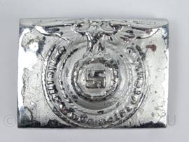 WO2 Duits Waffen SS koppelslot - zilverkleurig extra kwaliteit - afmeting 5 x 7 cm - replica