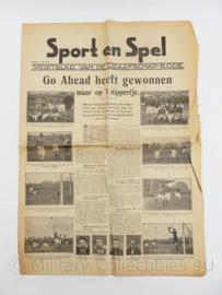 krant sport en spel sportblad van de Graafschap bode  8 april 1935  - origineel