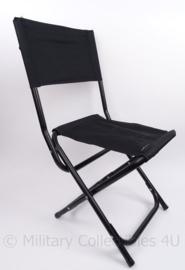 Klapstoel zwart met rugleuning - origineel