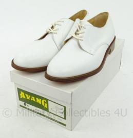 KM Koninklijke Marine Tropen schoenen wit merk Avang - lederen zool - nieuw in doos - maat 8,5  - origineel