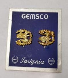 US army collar insignia metaal Paar - maker Gemsco - origineel US Army
