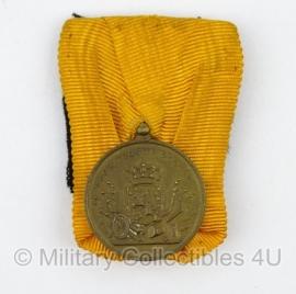 Bronzen Nederlandse medaille voor 12 jaar Trouwe Dienst- Juliana - origineel