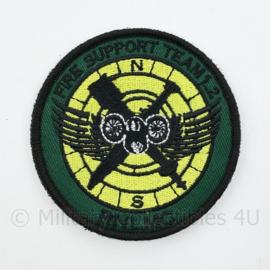 RNLMC Korps Mariniers Fire Support Team 1.2 embleem - met klittenband - diameter 9 cm
