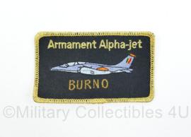 Belgische Luchtmacht Arnament Alpha -jet BURNO naamembleem van piloot Burno - origineel